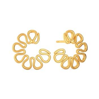 Knot in Knit Gold Earrings