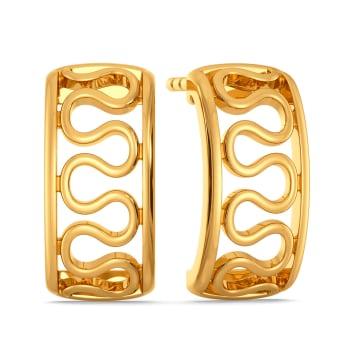 Knit Knot Gold Earrings