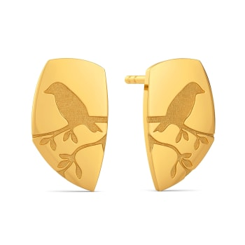 Nature Imprints Gold Earrings