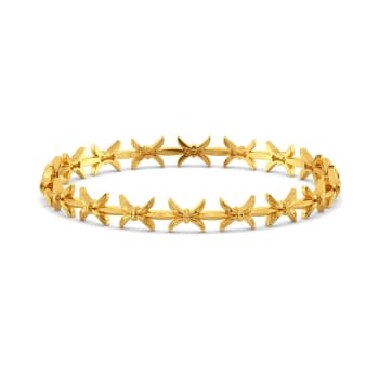 Bow Baroque Gold Bangles