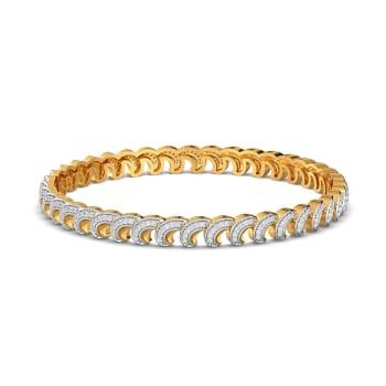 Sparkle Spiral Diamond Bangles