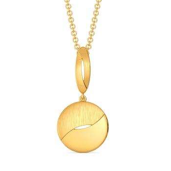 Just in Sequin Gold Pendants