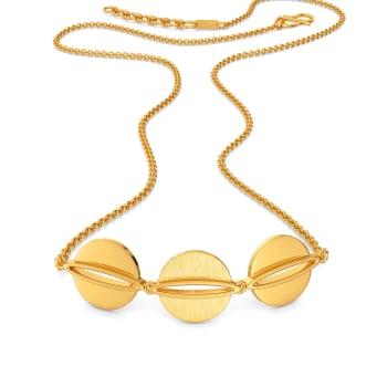 Sequin Checklist Gold Necklaces
