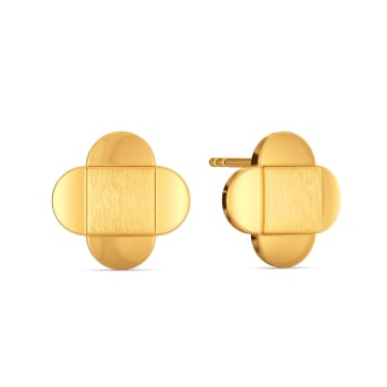 Business Sequins Gold Earrings