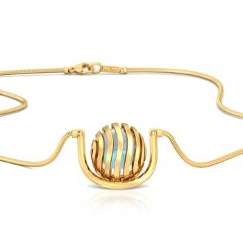 Wavy Blue Gemstone Necklaces