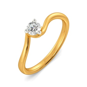Curly Care Diamond Rings
