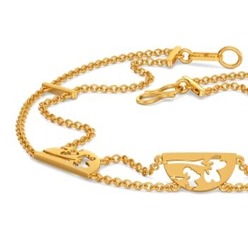 Flowy Florals Gold Bracelets