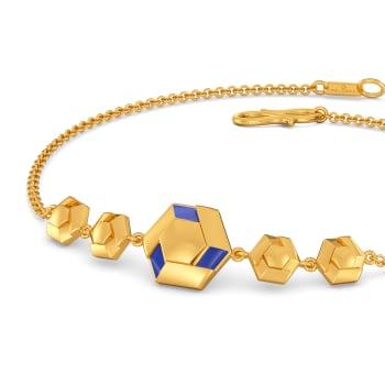 Denim Drama Gold Bracelets