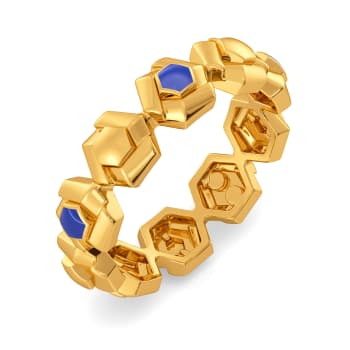 Denim Drama Gold Rings