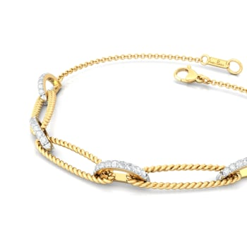 Twist of Fate  Diamond Bracelets