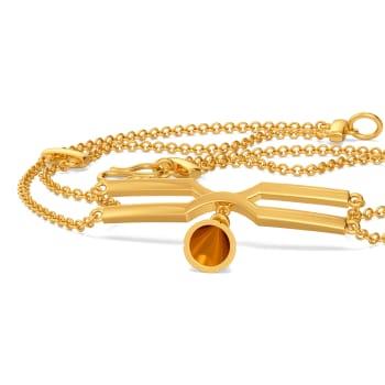 Tassel Tied Gold Bracelets