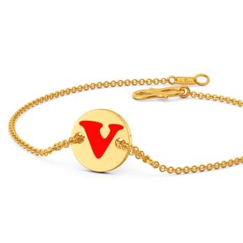 V for victory Gold Bracelets