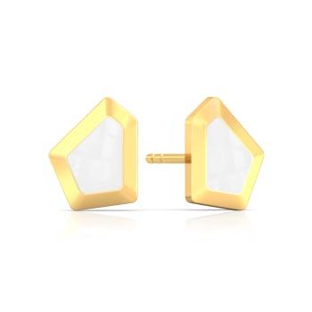 White Water Waltz Gold Earrings