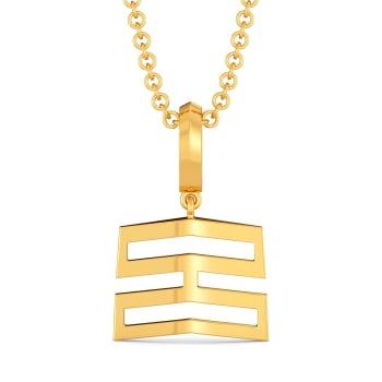 Pleats N Folds Gold Pendants