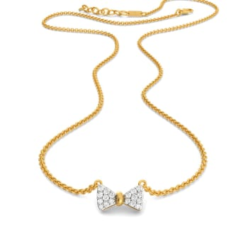 Sole Bow Diamond Necklaces