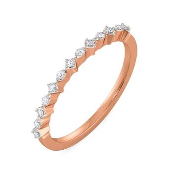 Rhomb Rosettes Diamond Rings