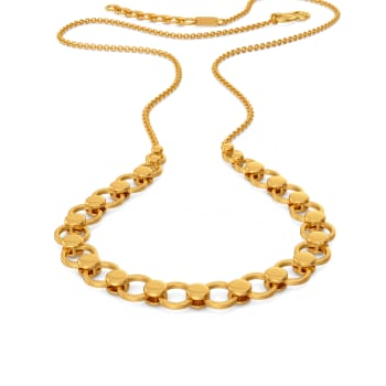 Sequin Surreal Gold Necklaces