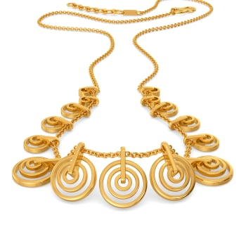 Ring A Ding Gold Necklaces