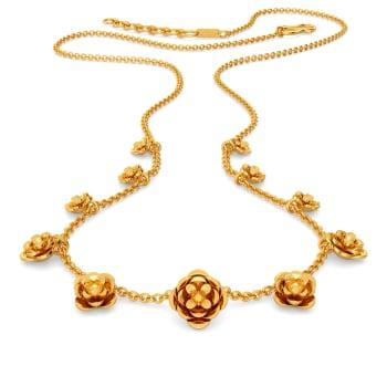 Fleur de Flounce Gold Necklaces
