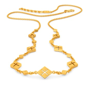 Rhomb Rodeo Gold Necklaces