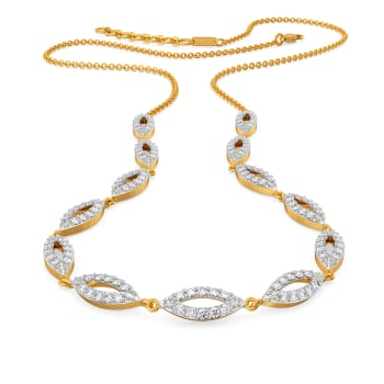 Lazy Leafy Diamond Necklaces