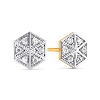 Go Gingham Diamond Earrings