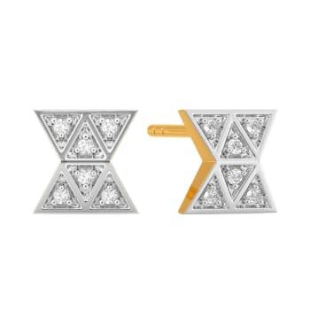 The Plaid Patch Diamond Earrings