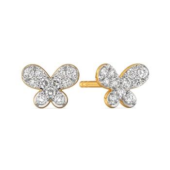 Butterfly Binds Diamond Earrings