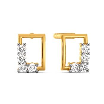 Sail to Square Diamond Earrings