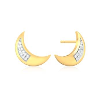 Rose Moon Rising Diamond Earrings