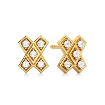 Abstract Ambition Diamond Earrings