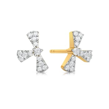 Frow Bow Diamond Earrings