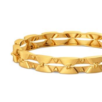 Free Frills Gold Bangles