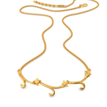 Print Perfect Gold Necklaces