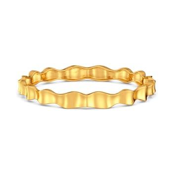 Rhyme N Ruffle Gold Bangles