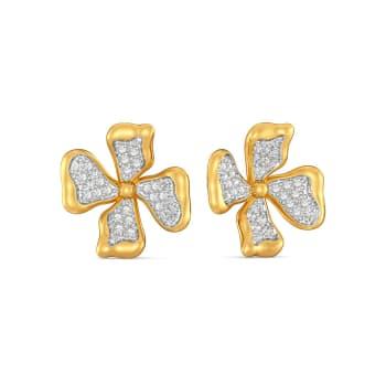Floral Flutter Diamond Earrings