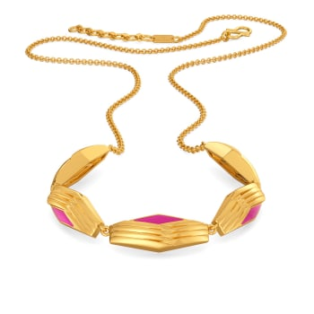Pink N Jolly Gold Necklaces