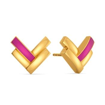 Pink Odyssey Gold Earrings