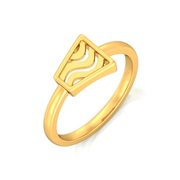 Trapeze Gold Rings