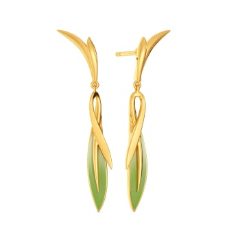 Tropical Cool Gold Earrings