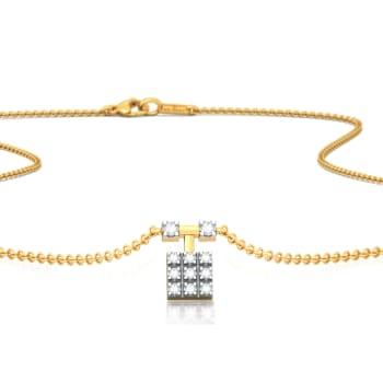 Fair n' Square Diamond Necklaces