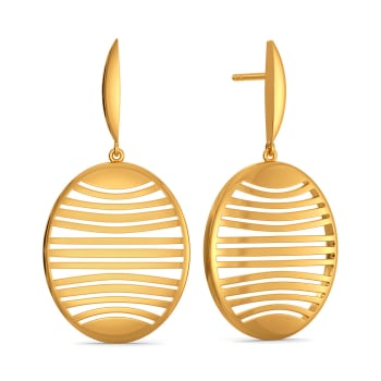 Under Wired Gold Earrings