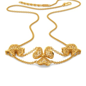 Lacy Blooms Gold Necklaces