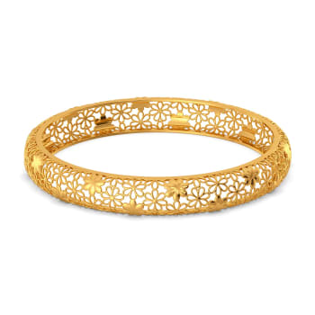 Lacy Notes Gold Bangles
