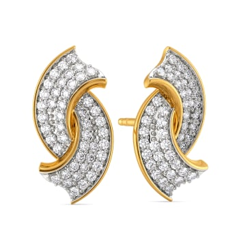 French Madame Diamond Earrings