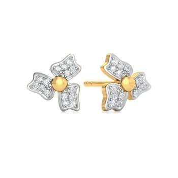 Sepal Steeple Diamond Earrings