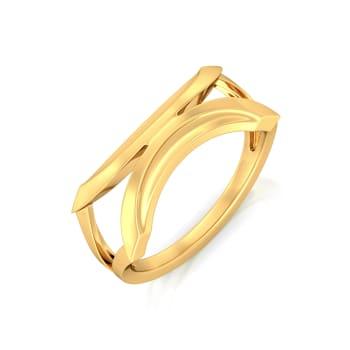 Culture Curvature Gold Rings