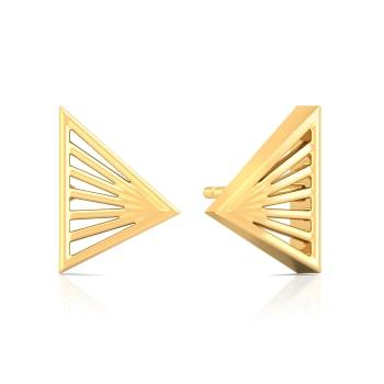 Prism Break Gold Earrings