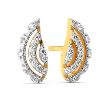 Paisley Pleats Diamond Earrings
