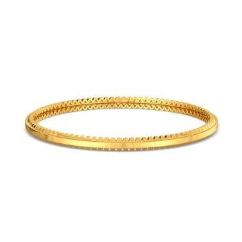 Gold Furrow Gold Bangles